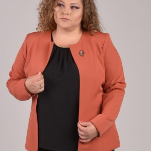 Ženski sako boja cigle