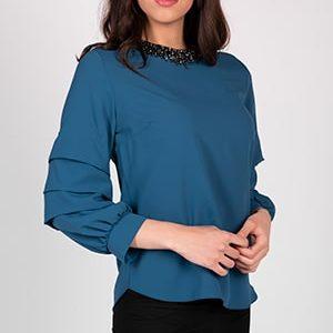 Bluza sa nabranim rukavima